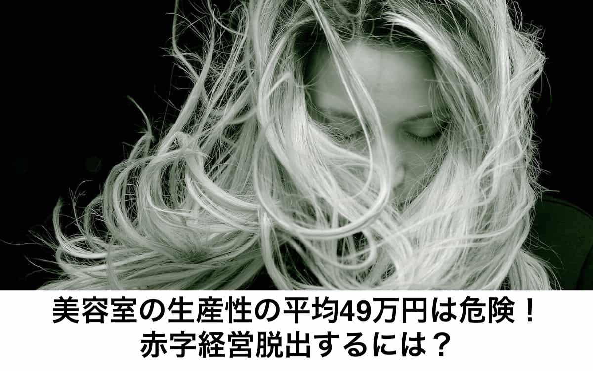美容室の生産性の平均49万円。経営と美容師