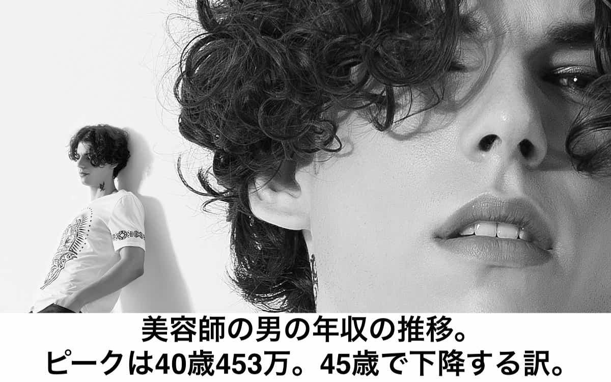 美容師の男の年収の推移